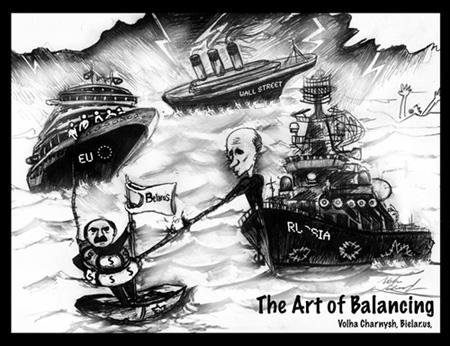 The Art of Balancing – Cartoon by Volha Charnysh